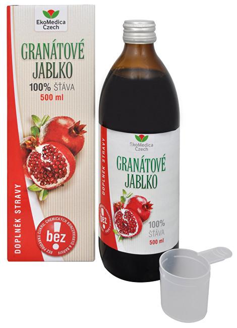 EkoMedica Czech Granátové jablko - 100% šťáva z granátového jablka 500 ml