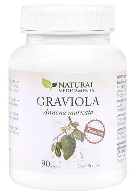Zobrazit detail výrobku Natural Medicaments Graviola anona (Annona muricata) 90 kapslí