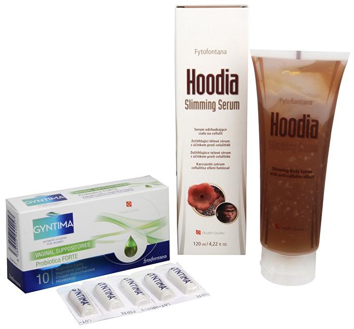Gyntima Probiotica vaginální čípky Forte 10 ks + Hoodia slimming sérum 120 ml ZDARMA