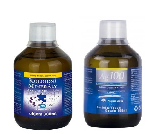 Koloidní minerály 300 ml + Koloidní stříbro Ag100 (10ppm) 300 ml