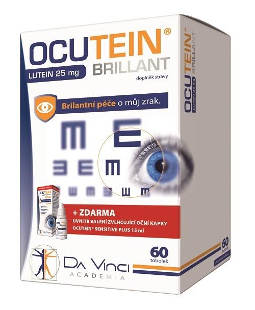 Zobrazit detail výrobku DaVinci Ocutein Brillant Lutein 25 mg 60 tablet
