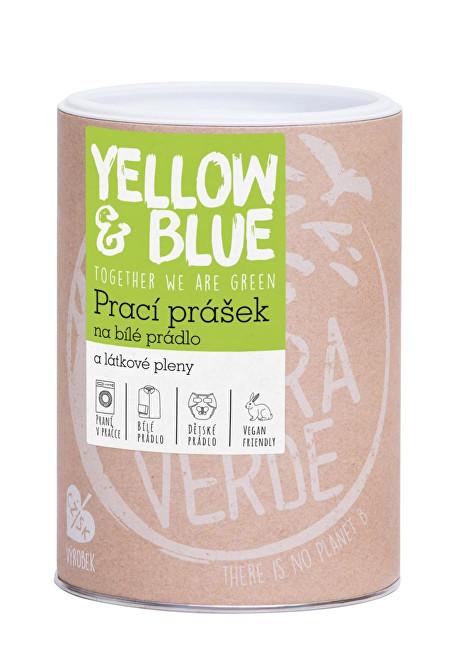 Yellow & Blue Prací prášek z mýdlových ořechů na bílé prádlo a pleny s dezinfekčním účinkem 850 g