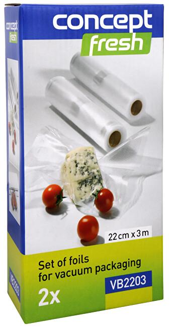 Zobrazit detail výrobku Concept Sada fólií pro vakuové balení 22 cm x 3 m VB-2203