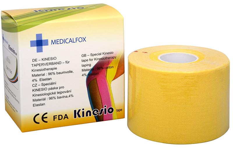 Zobrazit detail výrobku Medicalfox Tejpovací páska Kinezio 5 cm x 5 m Žlutá