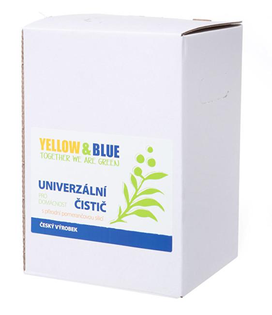Fotografie Yellow & Blue Univerzální čistič pro domácnost z mýdlových ořechů s přírodní pomerančovou silicí 5 l