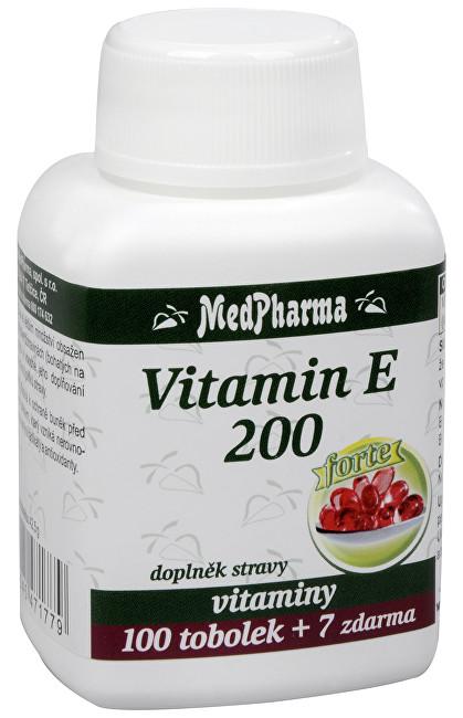 MedPharma Vitamín E 200 Forte 100 tob. + 7 tob. ZDARMA