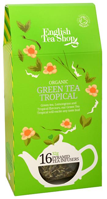Zelený čaj s infúzí tropického ovoce 16 pyramidek
