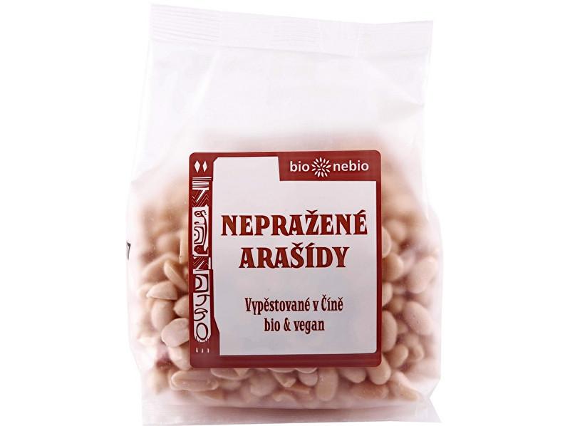 Bio nebio s. r. o. Bio arašídy loupané nepražené 200g