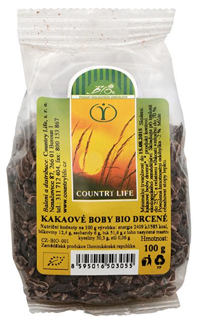 Bio Kakaové boby nepražené drcené 100 g