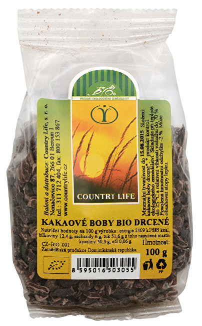 Zobrazit detail výrobku Country Life Kakaové boby nepražené drcené 100 g