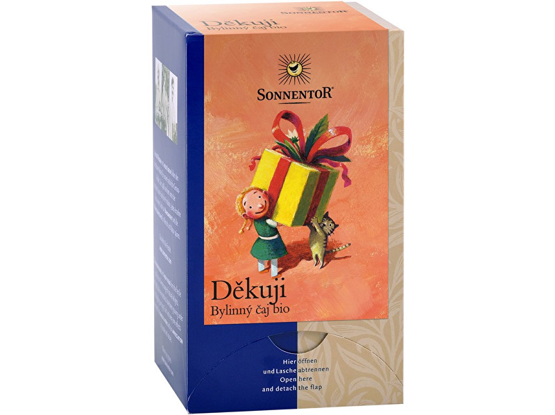 Zobrazit detail výrobku Sonnentor Bio Děkuji - bylinný čaj 27g dvoukomorový (18sáčků)