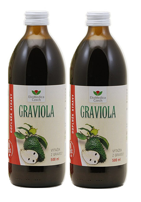 Zobrazit detail výrobku EkoMedica Czech Graviola - výtažek z gravioly 500 ml + 500 ml