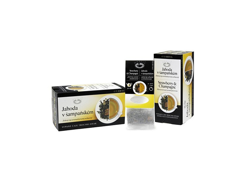 Zobrazit detail výrobku OXALIS Jahoda v šampaňském - zelený čaj OXABAG 40g