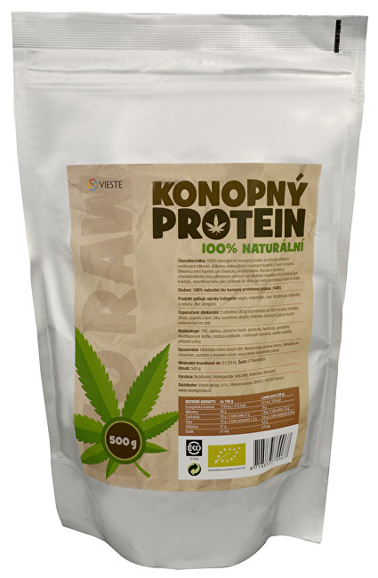 Zobrazit detail výrobku Vieste group Konopný protein 100% naturální Bio 500 g