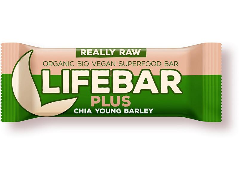 Zobrazit detail výrobku Lifefood Bio tyčinka Lifebar Plus chia semínka a mladý ječmen 47g