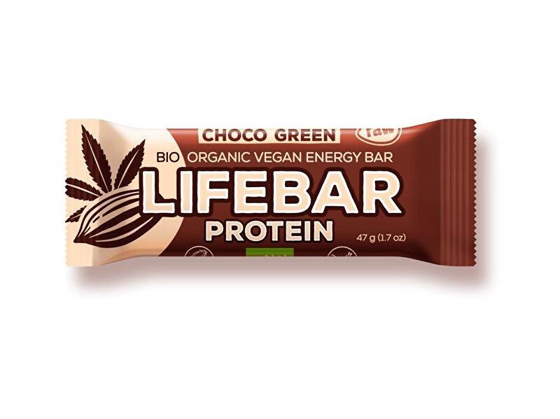 Lifefood Bio tyčinka Lifebar protein čokoláda a konopný protein 47g