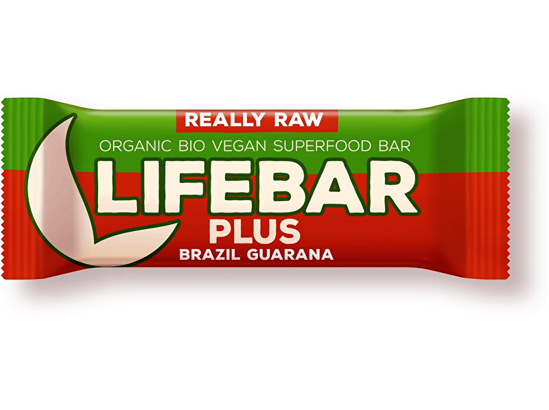 Zobrazit detail výrobku Lifefood Bio tyčinka Lifebar Plus Guarana a Brazil 47g