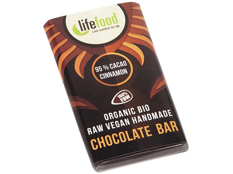 Lifefood Bio Lifefood mini čokoládka 95% kakao a škorice 15g
