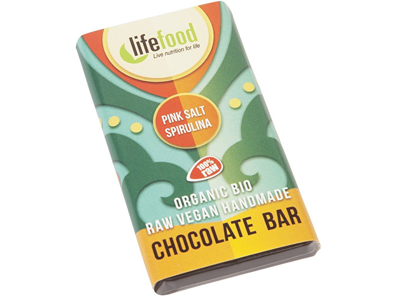 Lifefood Bio Lifefood mini čokoládka slaná se spirulinou 15g
