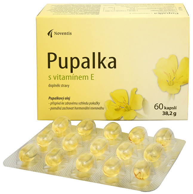Pupalka s vitamínem E 60 kapslí