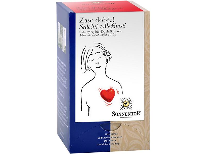 Zobrazit detail výrobku Sonnentor Bio Srdeční záležitosti - bylinný porc.čaj dvoukomorový 27g