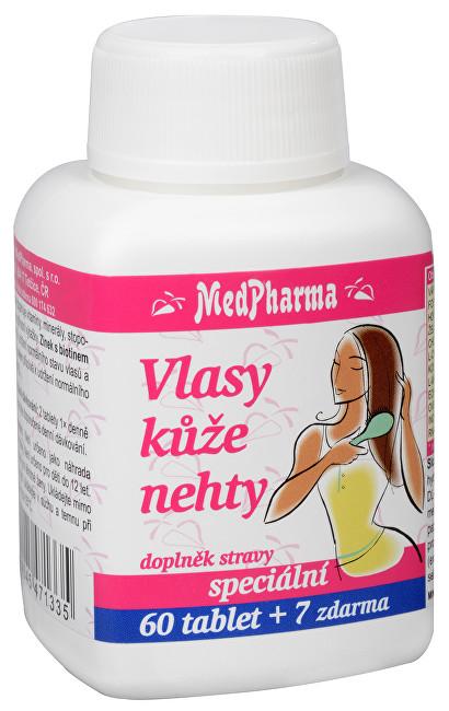 Zobrazit detail výrobku MedPharma Vlasy, kůže, nehty 60 tbl. + 7 tbl. ZDARMA