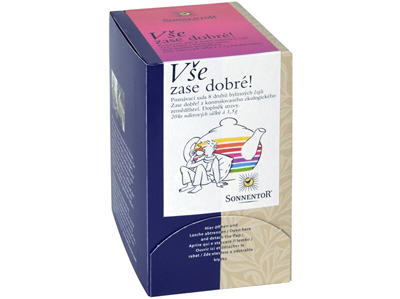 Zobrazit detail výrobku Sonnentor Bio Vše zase dobré! Ochutnej! - bylinný porc.čaj dvoukomorový 30g