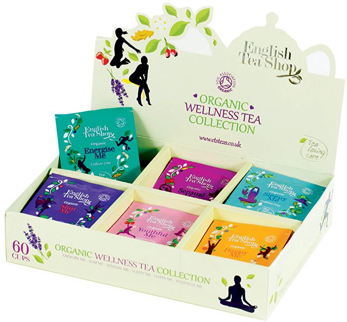 Wellness kolekce 6 druhů čajů 60 sáčků