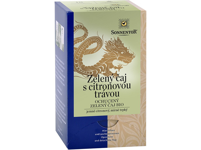 Sonnentor Bio Zelený čaj citrónová tráva porc. darčekový 21.6g