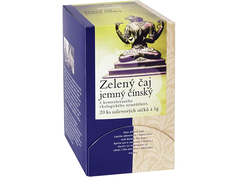 Zobrazit detail výrobku Sonnentor Bio Zelený čaj - jemný čínský porc. dárkový 27g