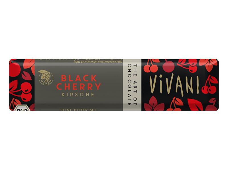 VIVANI Bio tyčinka Čokoládová hořká s višněmi 35g