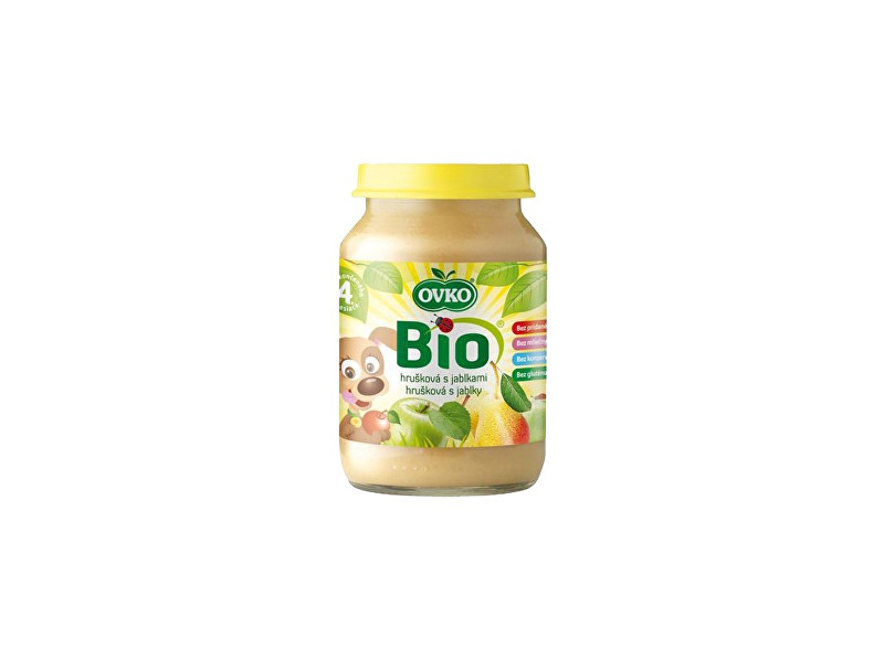 OVKO Bio Dětská výživa hrušková s jablky OVKO 190g