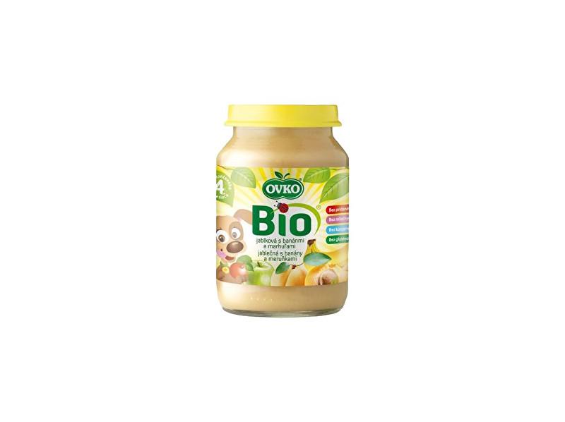 OVKO Bio Dětská výživa jablečná s banány a meruňkami OVKO 190g