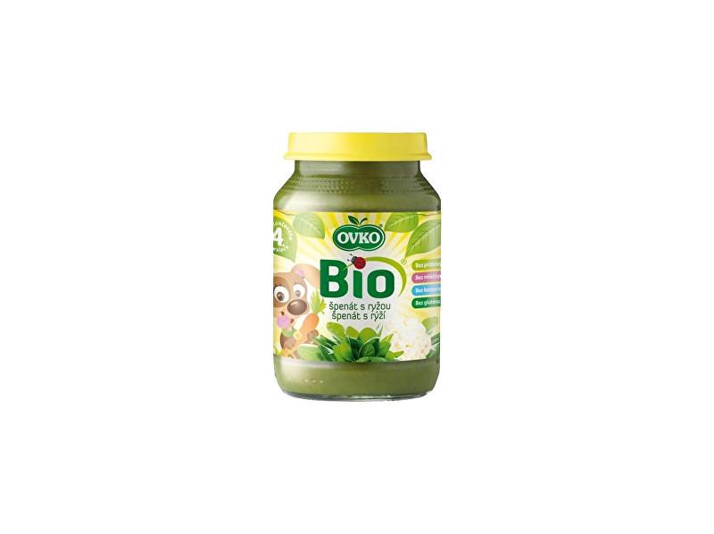 OVKO Bio Dětská výživa špenát s rýži OVKO 190g