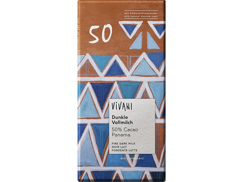 Zobrazit detail výrobku VIVANI Bio Edizione Grande mléčná čokoláda s kokosovým cukrem 80g