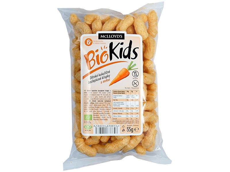 MCLLOYD´S Bio Křupky kukuřičné mrkvové 55g