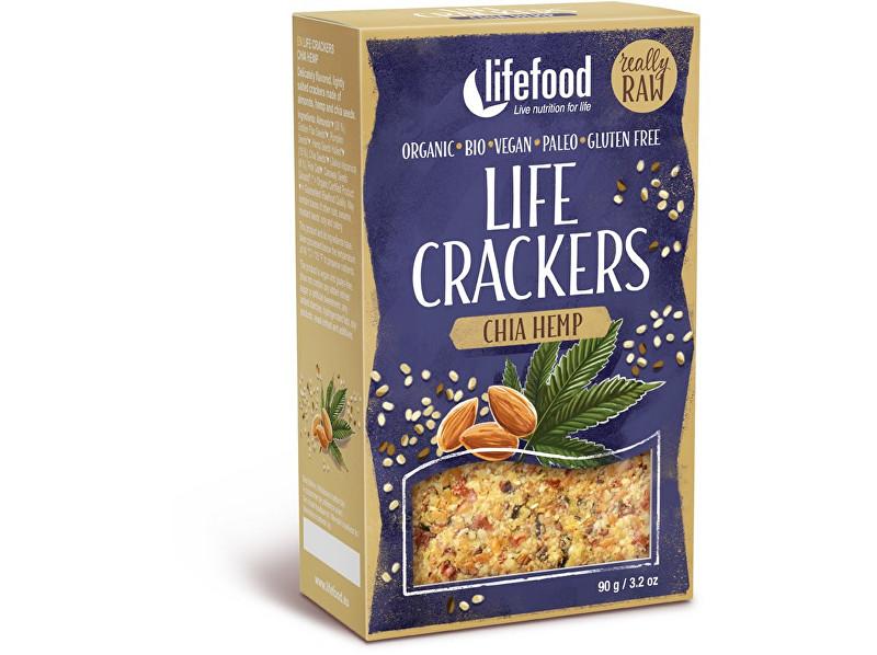 Lifefood Bio LIFE Crackers konopné s šalvie 90g