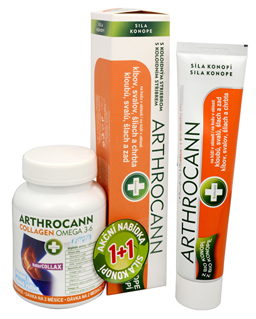 Fotografie Arthrocann gel 75ml+Arthrocann Collagen tbl.60