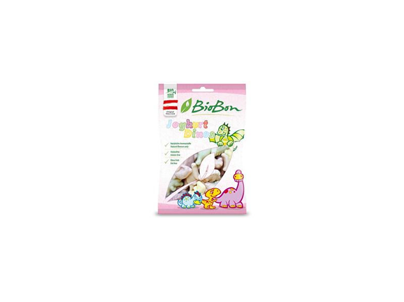 Bio bon Bio gumové bonbony Jogurtoví dinosauři 80g