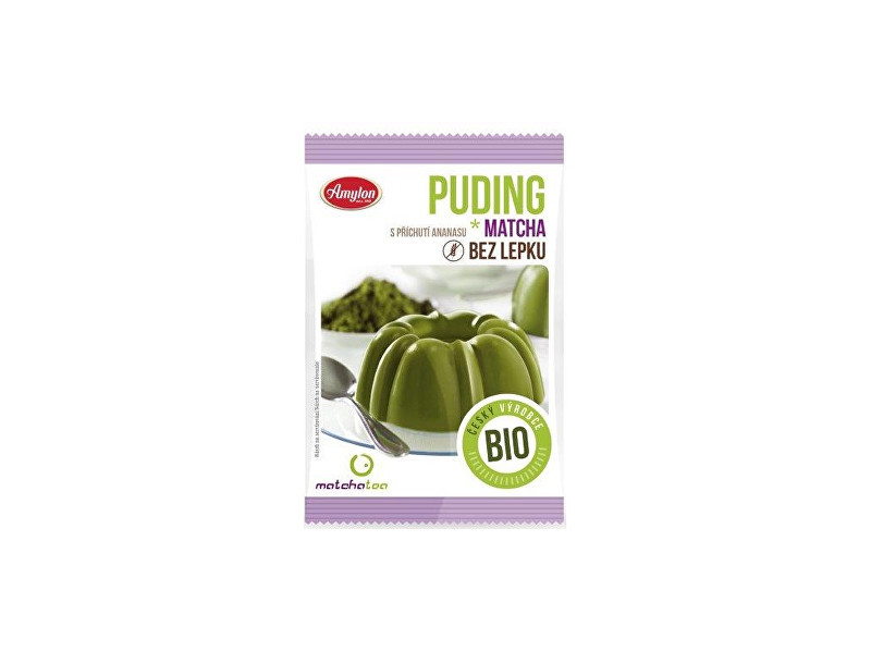 Zobrazit detail výrobku Amylon Puding Matcha Tea ananas bez lepku Bio 40g