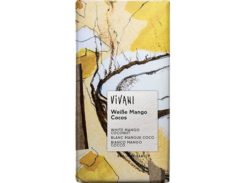 Zobrazit detail výrobku VIVANI Bio bílá čokoláda s mangem, kokosem a jogurtem 80g