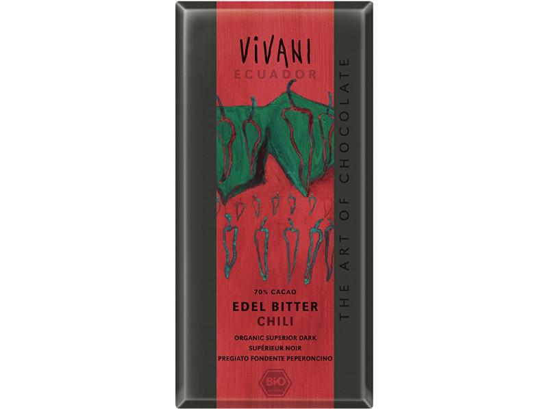 Zobrazit detail výrobku VIVANI Bio hořká čokoláda Chili 100g