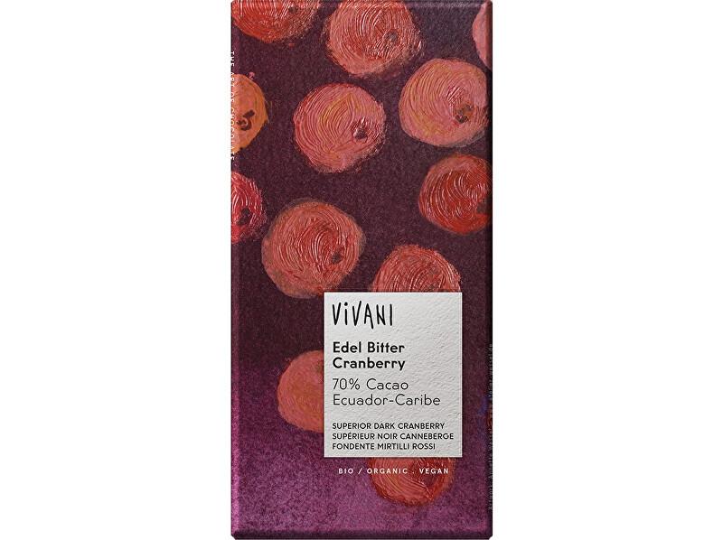 Zobrazit detail výrobku VIVANI Bio hořká čokoláda s brusinkami 100g