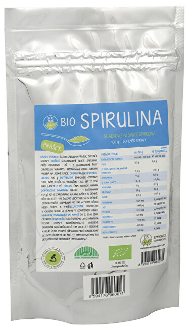 Empower Supplements ES BIO Spirulina prášek 100 g