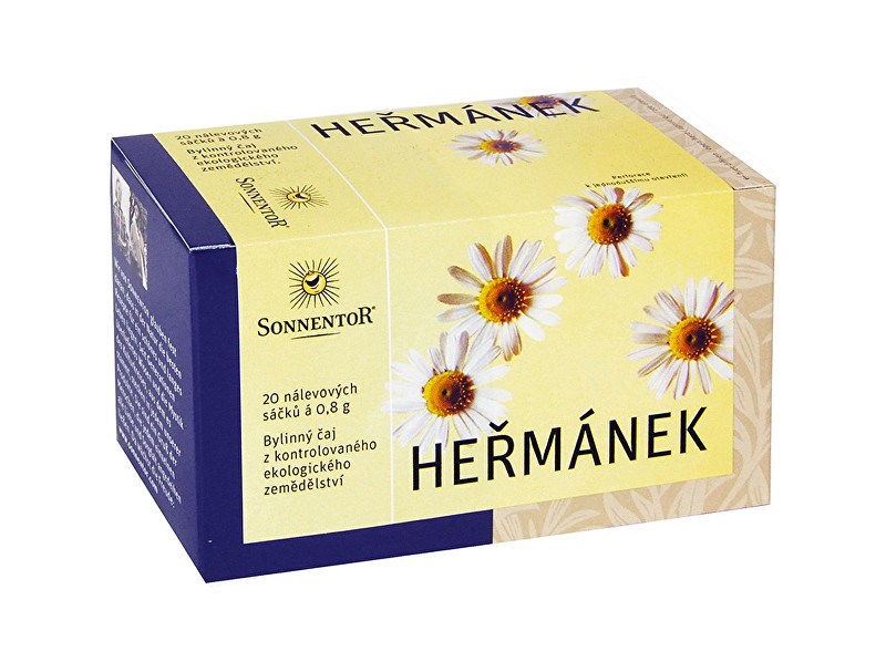Zobrazit detail výrobku Sonnentor Bio Heřmánek porcovaný 16g - bez pap. přebalu