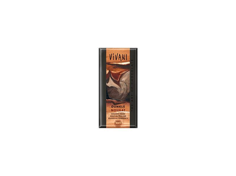 VIVANI Bio Horká čokoláda nugátová 100g