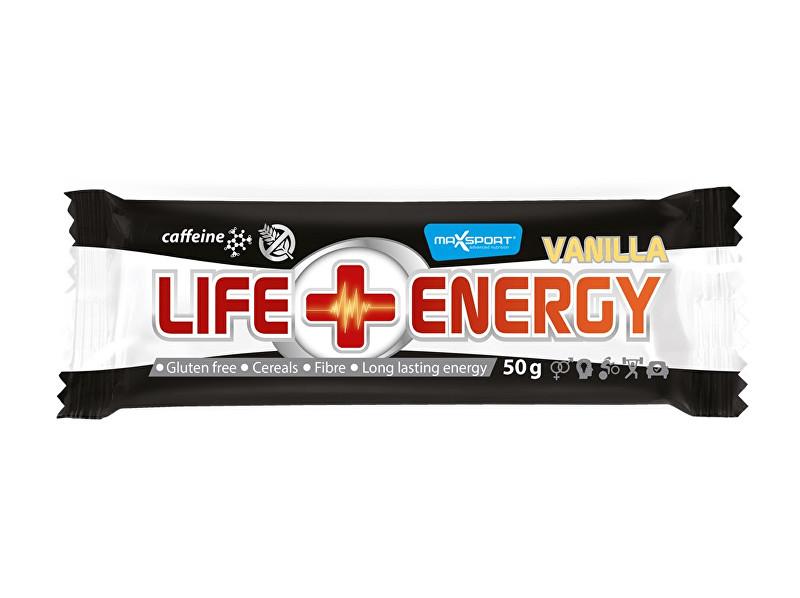 Max sport Tyčinka LIFE ENERGY GF Caffeine vanilka 50 g