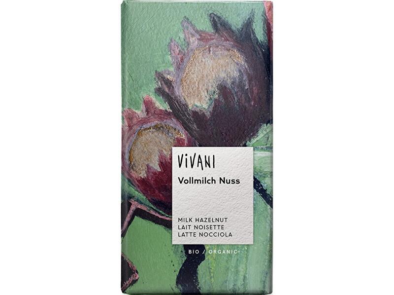 Zobrazit detail výrobku VIVANI Bio Mléčná čokoláda s kousky oříšků 100g