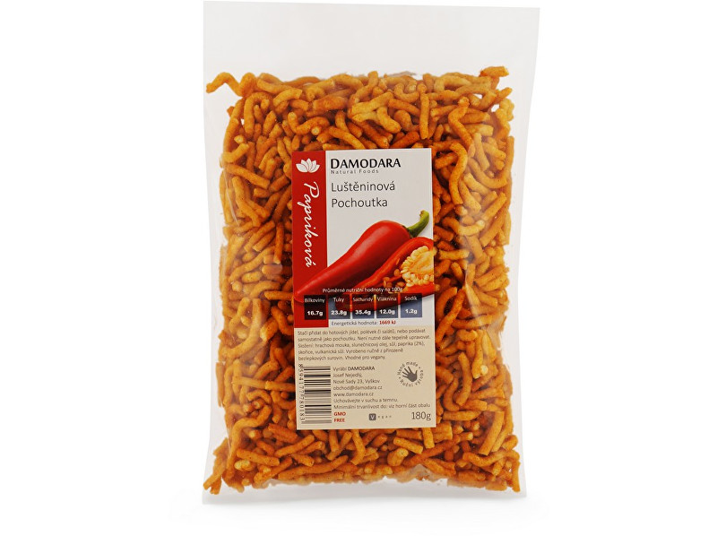 Damodara Luštěninová pochoutka papriková 180 g