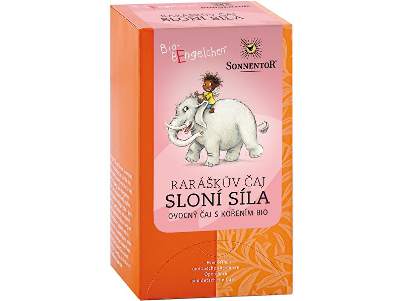 Fotografie SONNENTOR Bio Raráškův čaj - Sloní síla - porc. dárkový 40g (20sáčků)